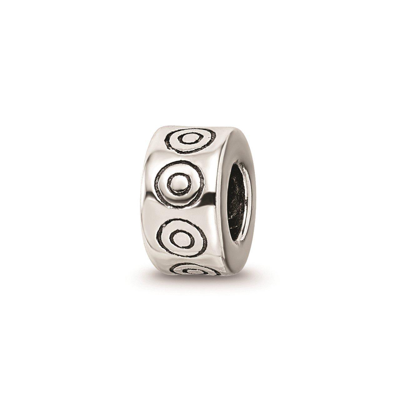 Sterling Silver Reflections Circles Bali Bead