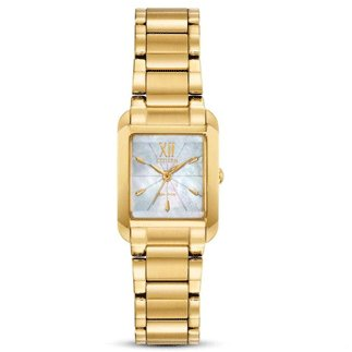 Citizen Watch BIANCA Beveled Sapphire Crystal Gold Tone