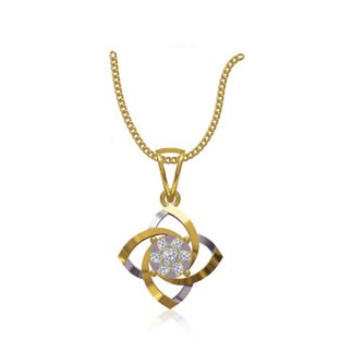 14k Yellow Gold 0.195 Ct. Diamond Pendant