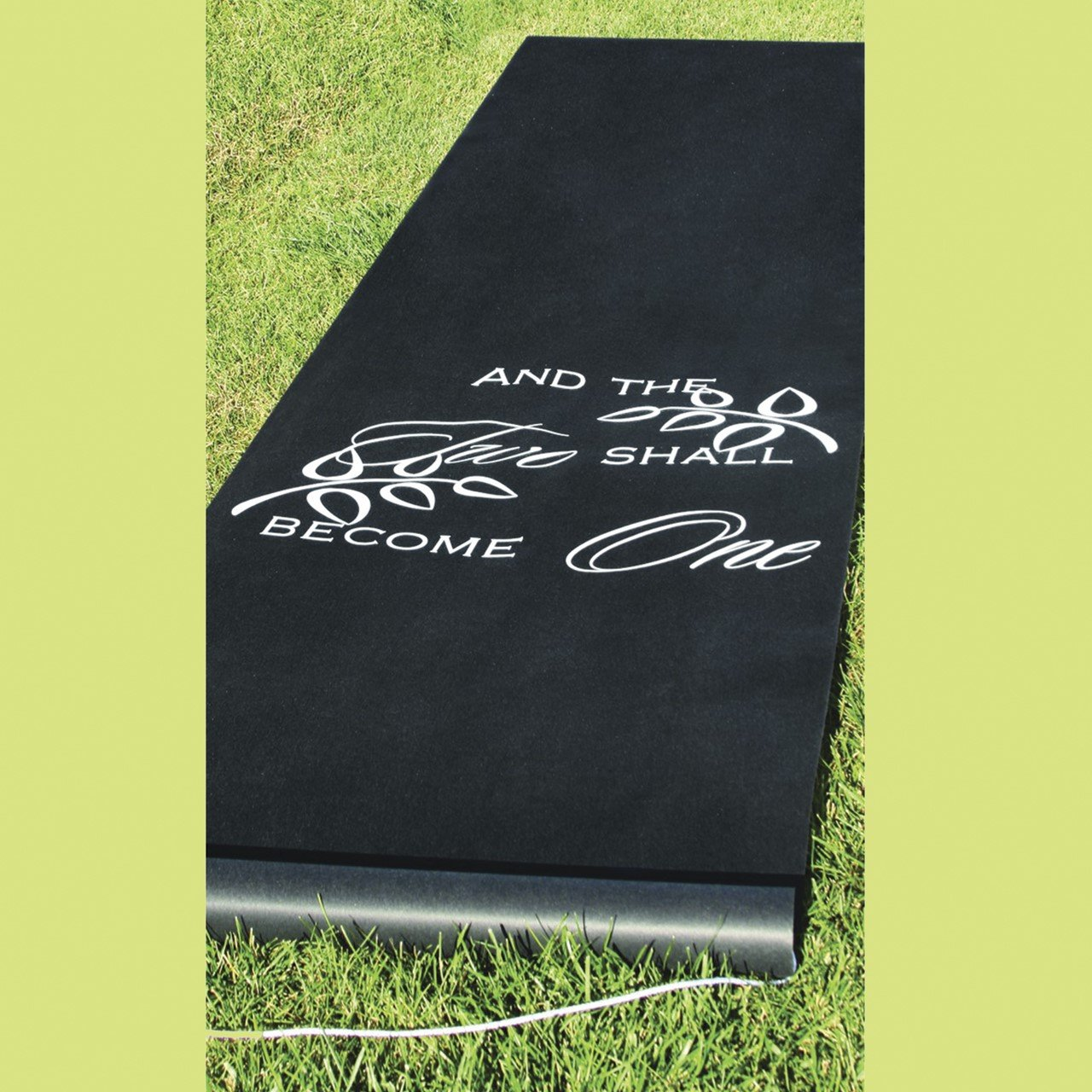 Black Rayon Two Become One Aisle Runner