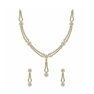 14K Yellow Gold 2.809 Ct. Diamond Necklace / 0.824 Ct. Earring Set