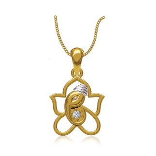 14k Yellow Gold 0.103 Ct. Diamond Pendant