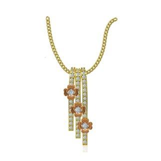 14k Yellow Gold 0.19 Ct. Diamond Pendant