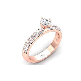 14K Rose Gold Diamond Ring/ Engagement Ring
