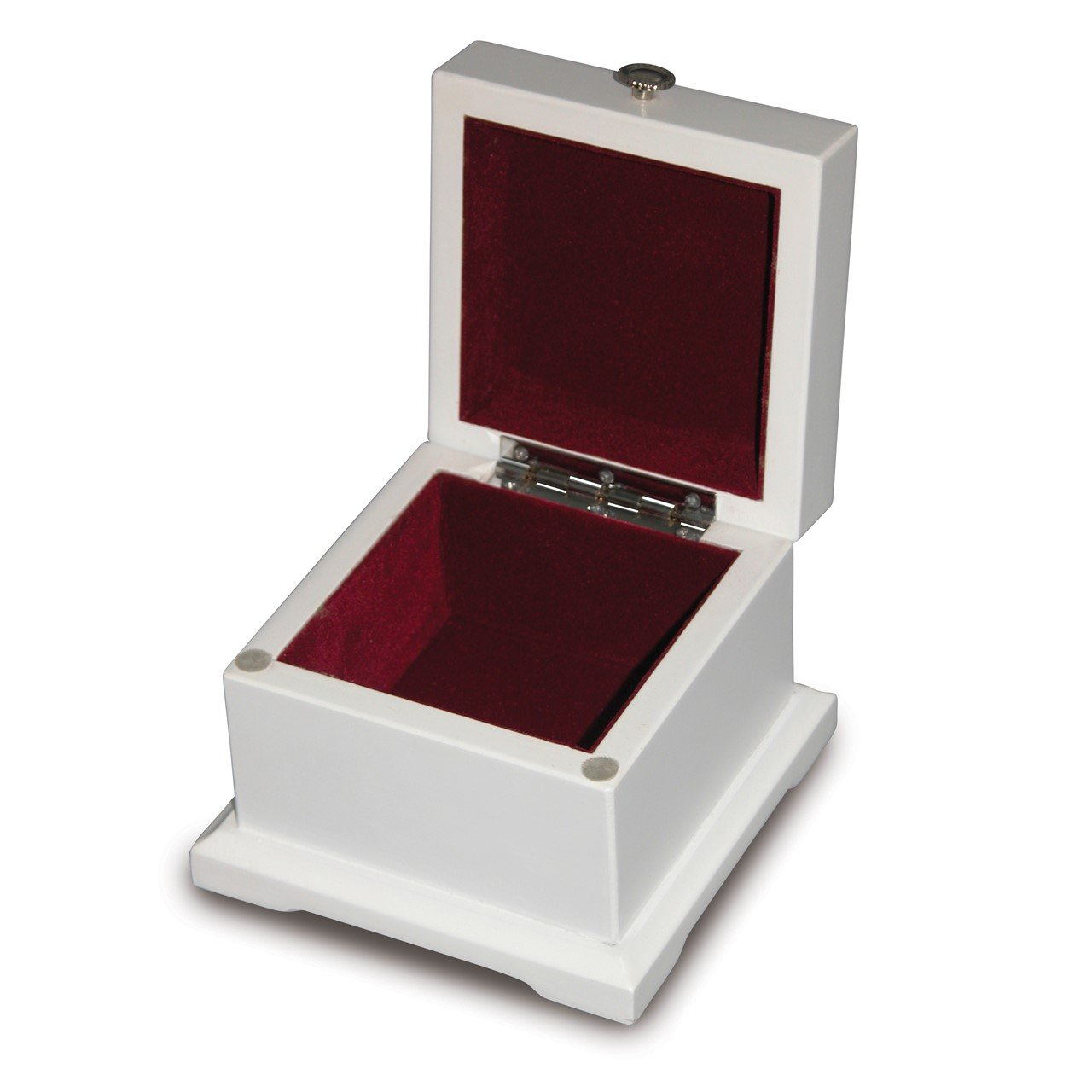 White Wood Hinged Lid Mini Box