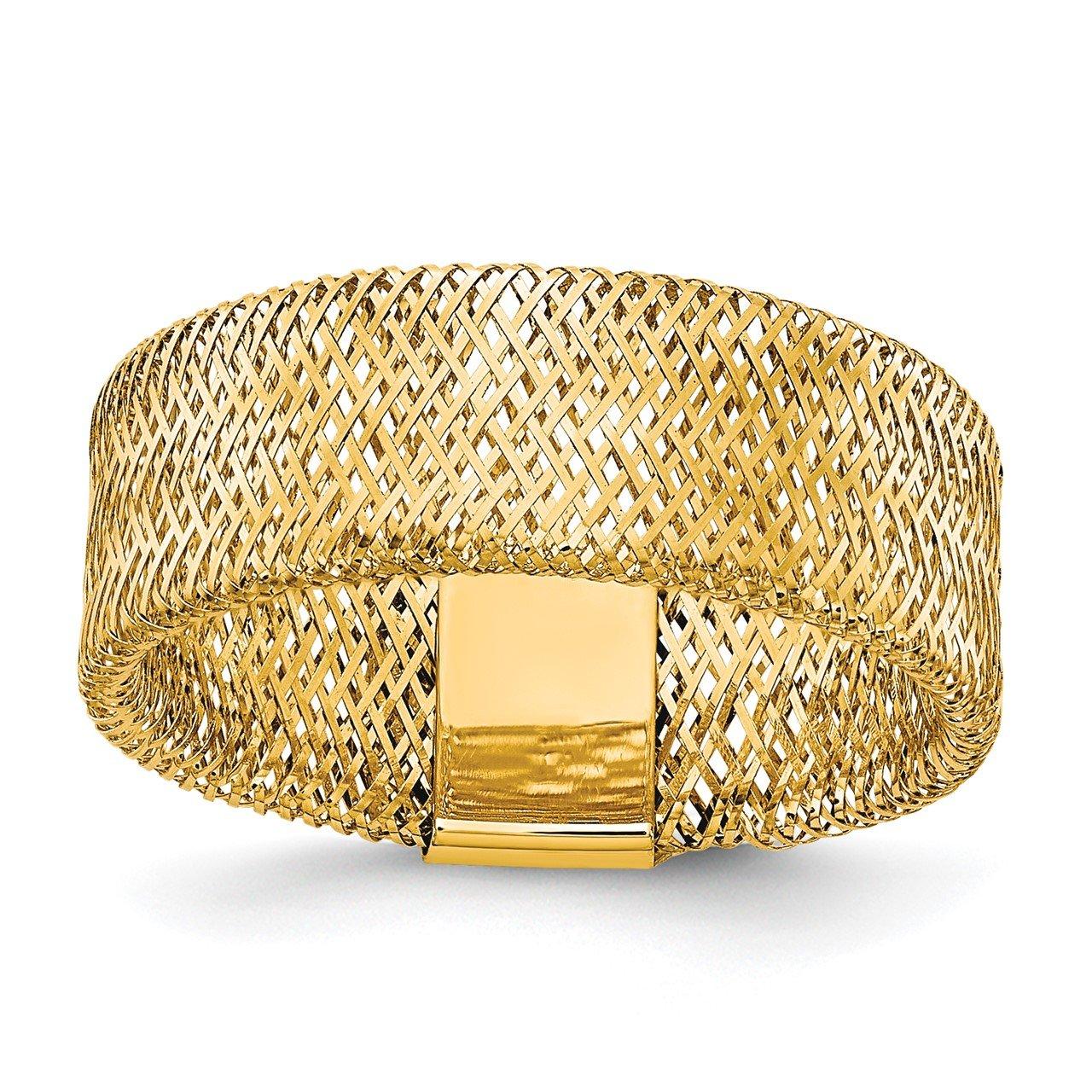 Leslie's 14k Polished/Textured Stretch Ring