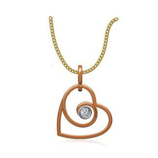 14k Rose Gold 0.06 Ct. Diamond Pendant