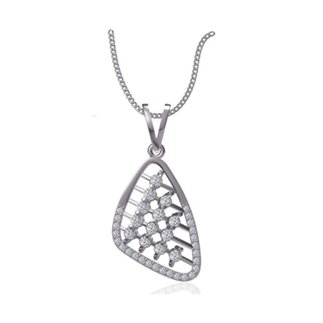 14k White Gold Natural 0.653 Ct. Diamond Pendant