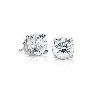 14k White Gold 0.30 ct Natural Diamond Stud Earrings