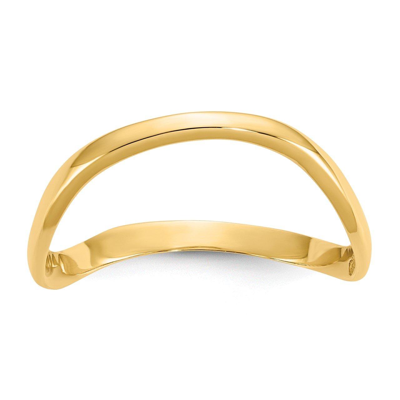 14K Wave Fashion Thumb Ring