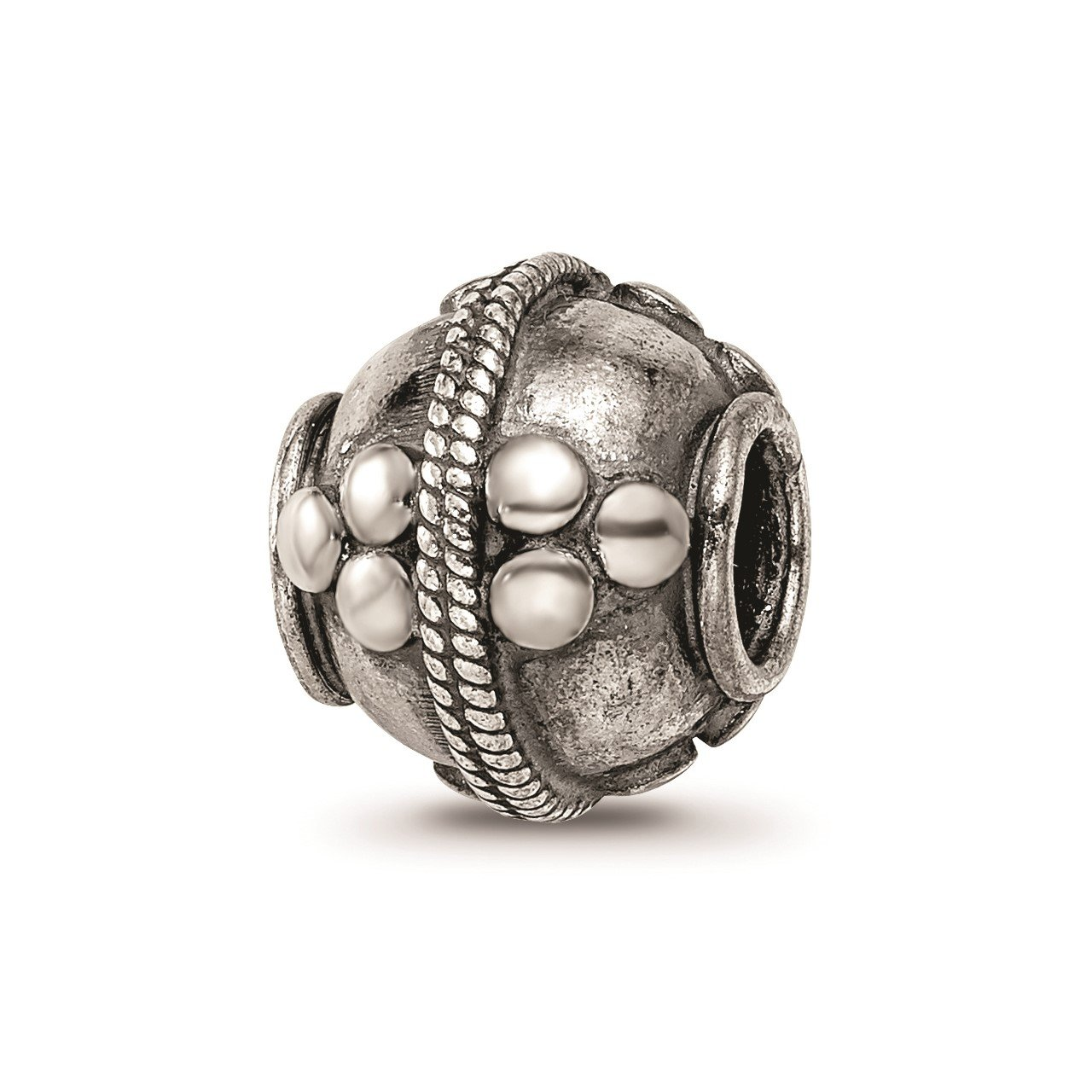 Sterling Silver Reflections Decorative Bali Bead