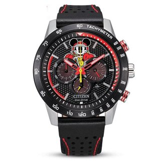 Citizen Mickey Mouse Watch BLACK ION PLATED BEZEL
