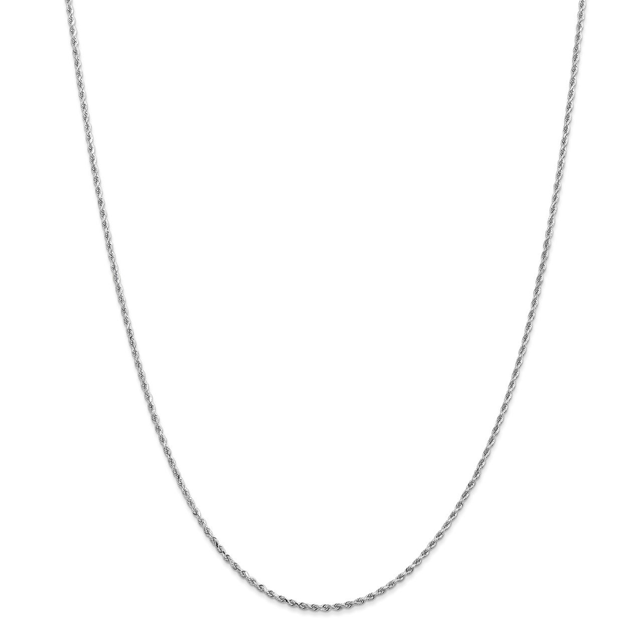14k White Gold 1.5mm D/C Rope with Lobster Clasp Chain