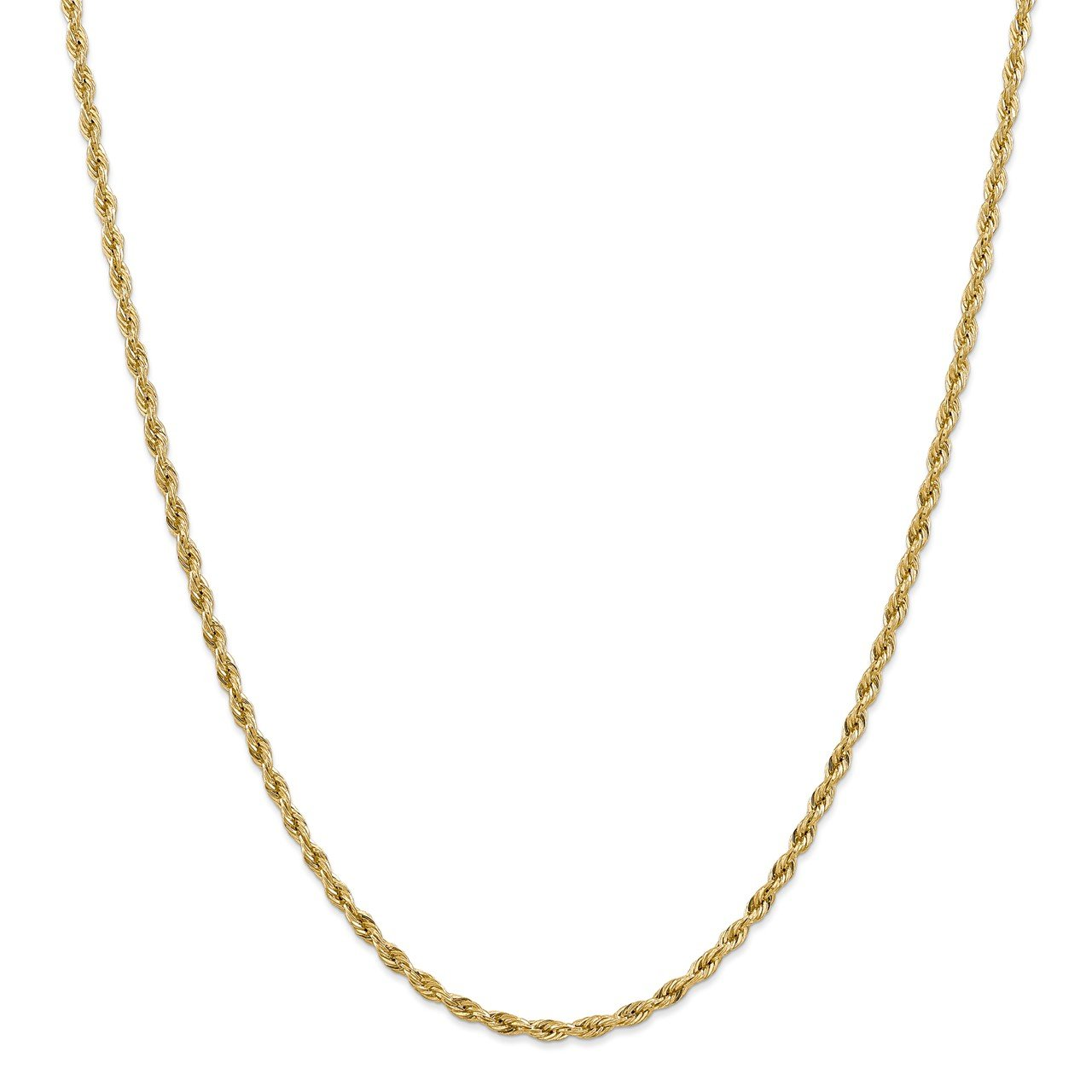 14ky 3.0mm Semi-Solid Rope Chain