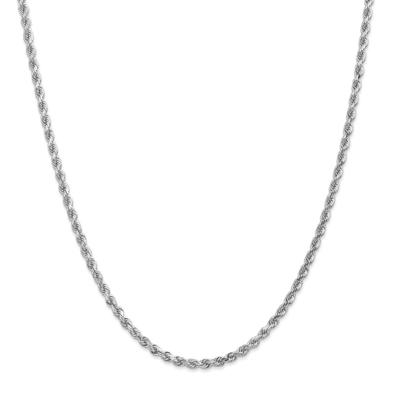 Leslie's 14K White Gold 3mm Diamond- cut Rope Chain