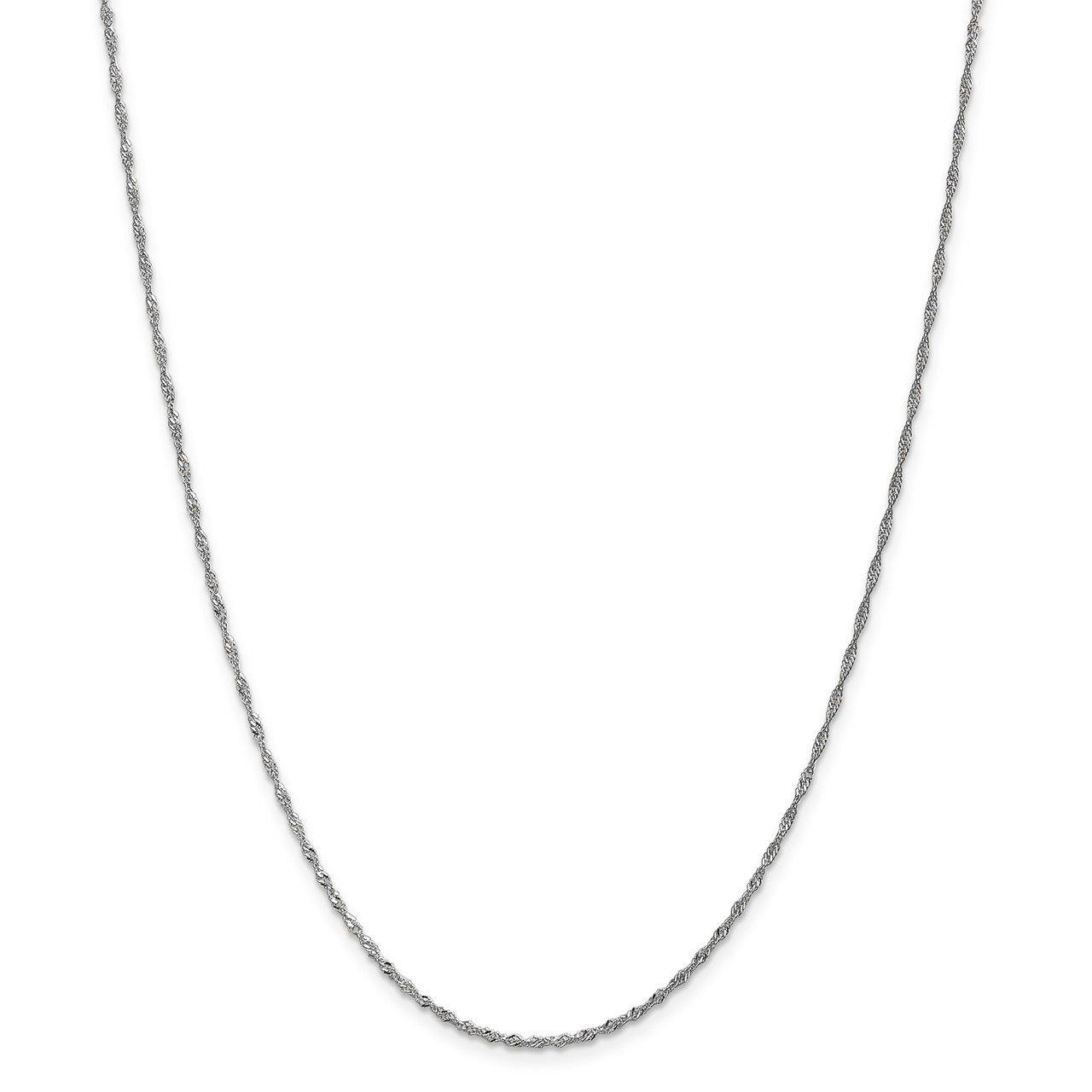 Leslie's 14K White Gold 1.3mm Singapore Chain