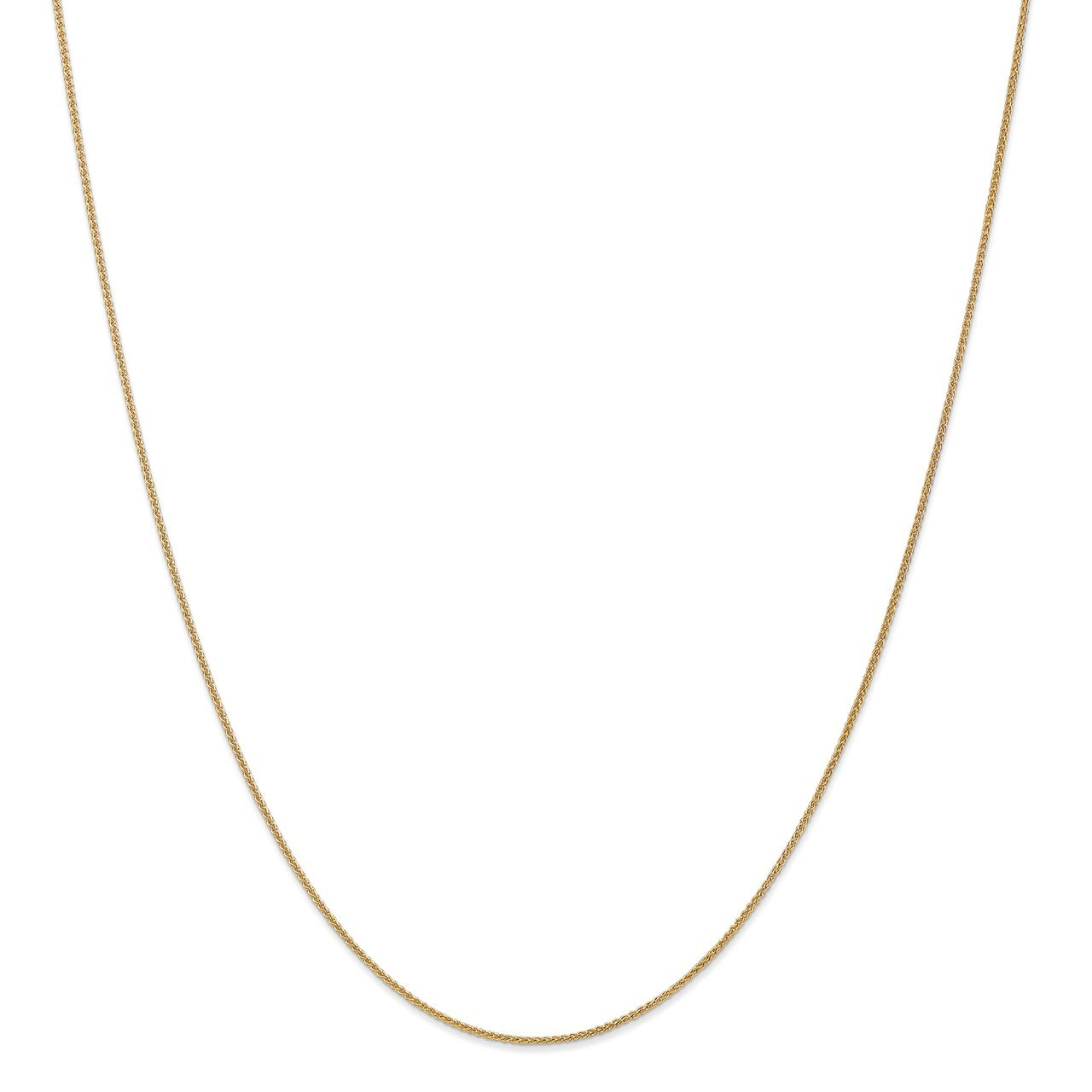 14k 1mm Spiga with Lobster Clasp Chain