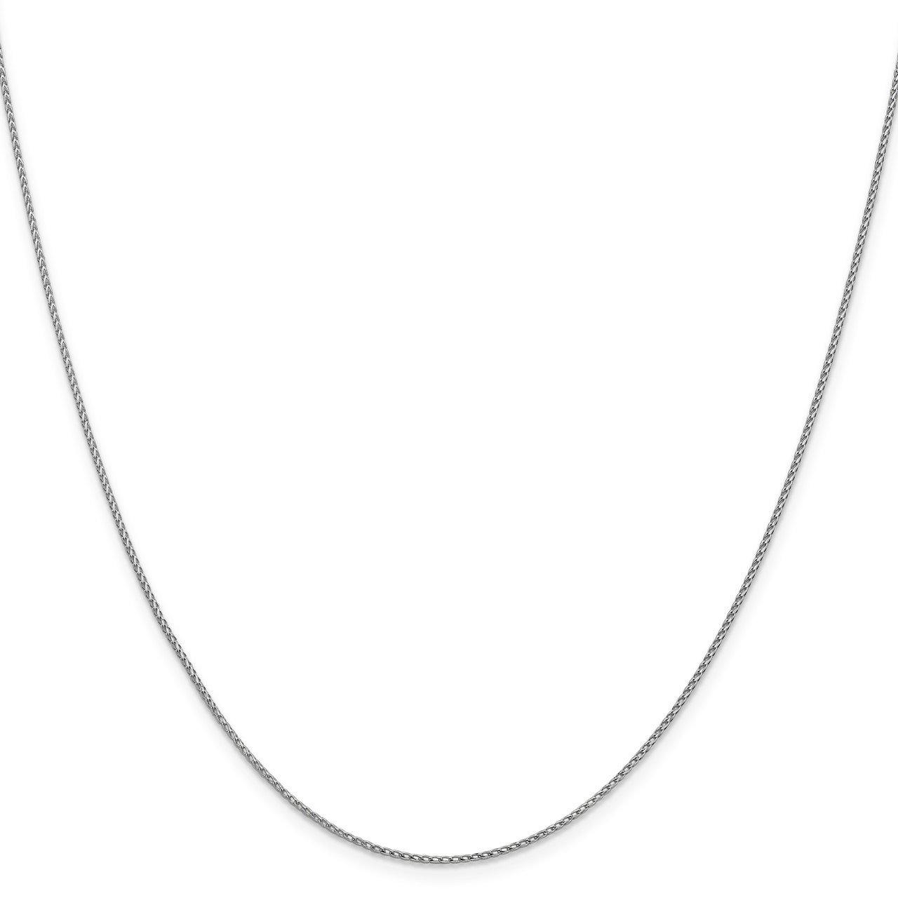 Leslie's 14K White Gold 1mm D/C Open Franco Chain