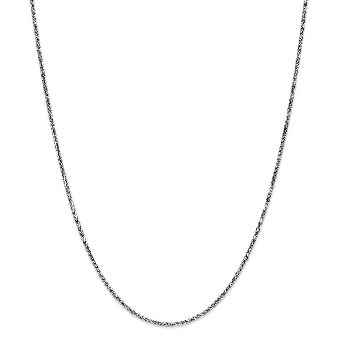 Leslie's 14K White Gold 1.4mm Solid D/C Spiga Chain