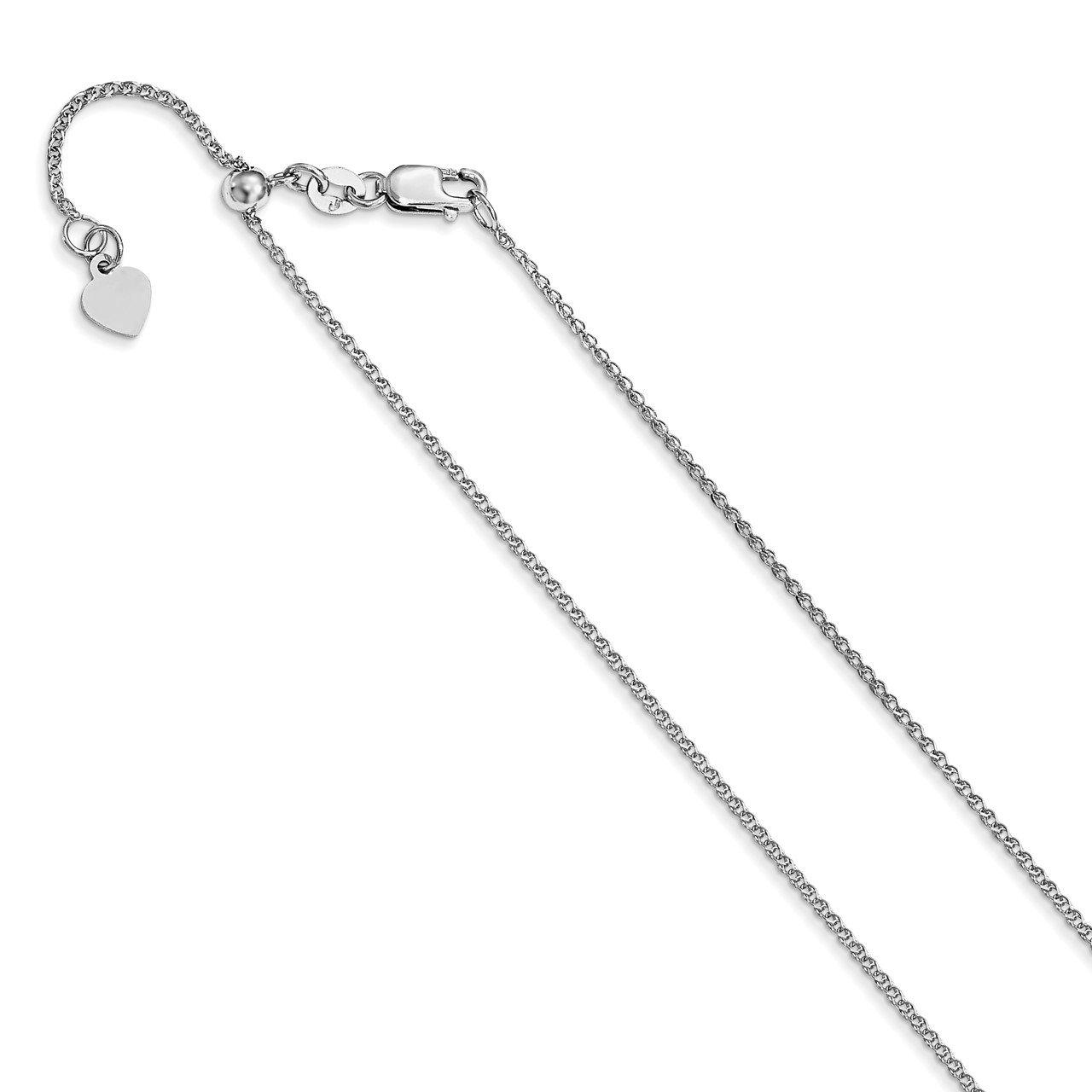 Leslie's 14K White Gold Adjustable 1.2 mm D/C Loose Rope Chain