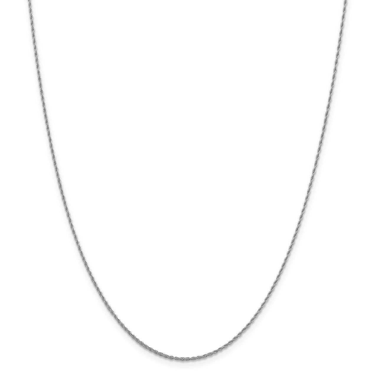 Leslie's 14K White Gold 1.3mm Loose Rope Chain