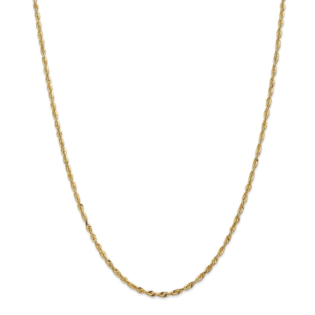 14k 2.5mm Extra-Light D/C Rope Chain