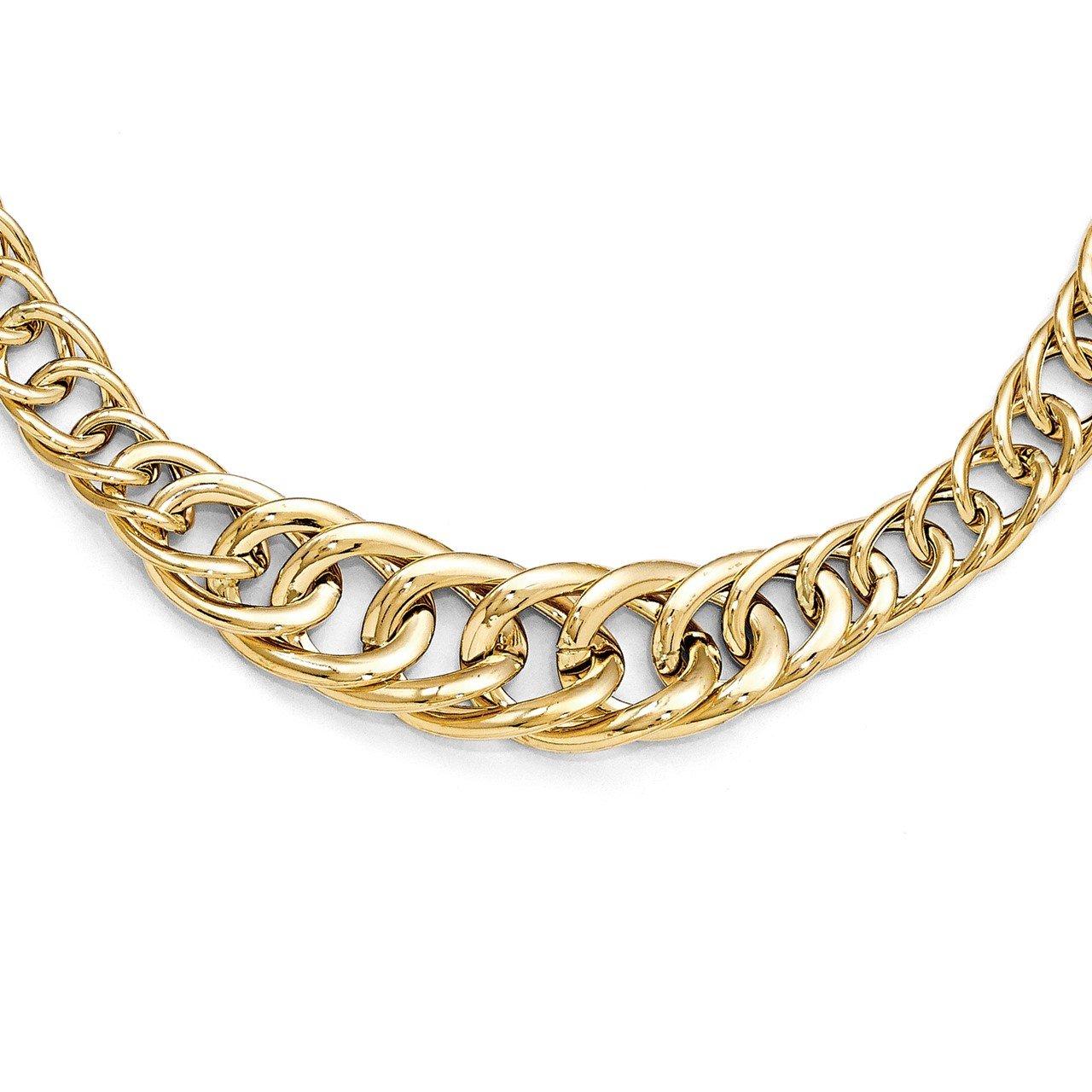 Leslie's 14K Polished Fancy Link Necklace