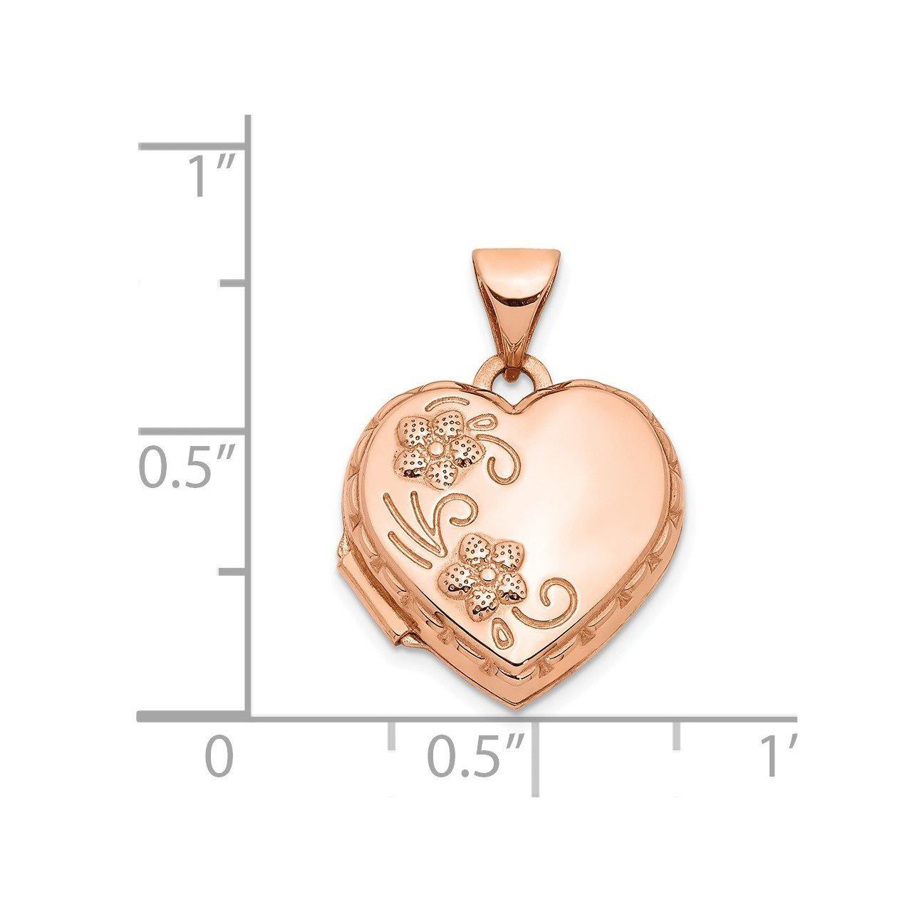 14k Rose Gold 15mm Heart Locket-4