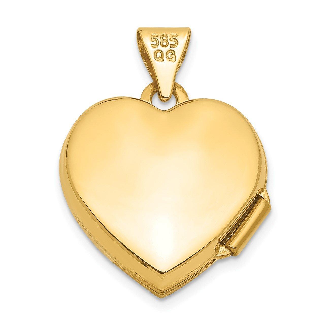 14k 15mm Heart Locket-2