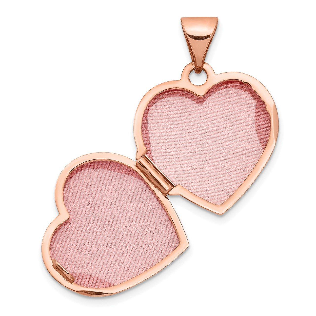 14k Rose Gold 15mm Heart Locket-3
