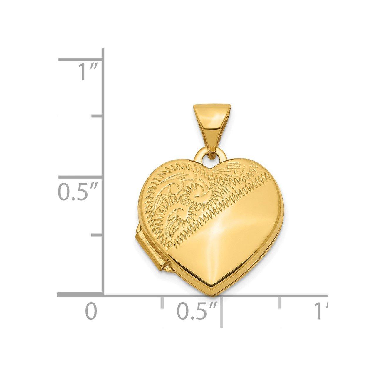 14k 15mm Heart Locket-4