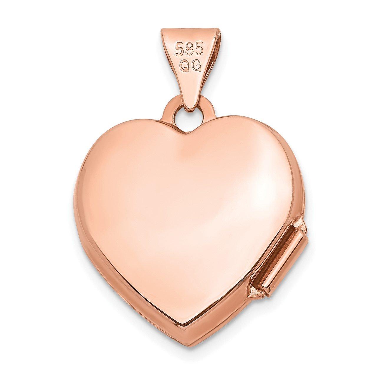 14k Rose Gold 15mm Heart Locket-2