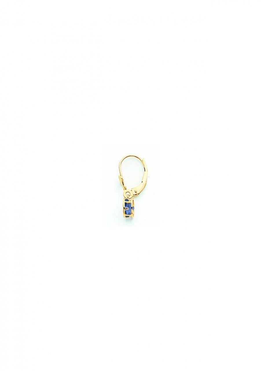 14k 5mm Sapphire leverback earring