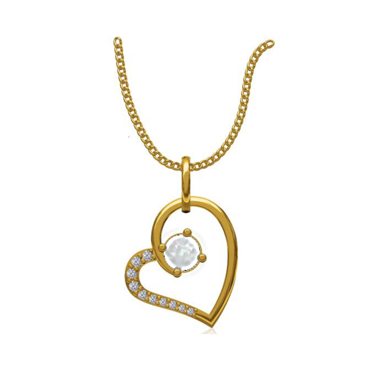 14k Yellow Gold 0.131 Ct. Diamond Pendant Gold Heart Shape Diamond Pendants Gift for Girls Girlfriends Women Length 15 /13 mm-6