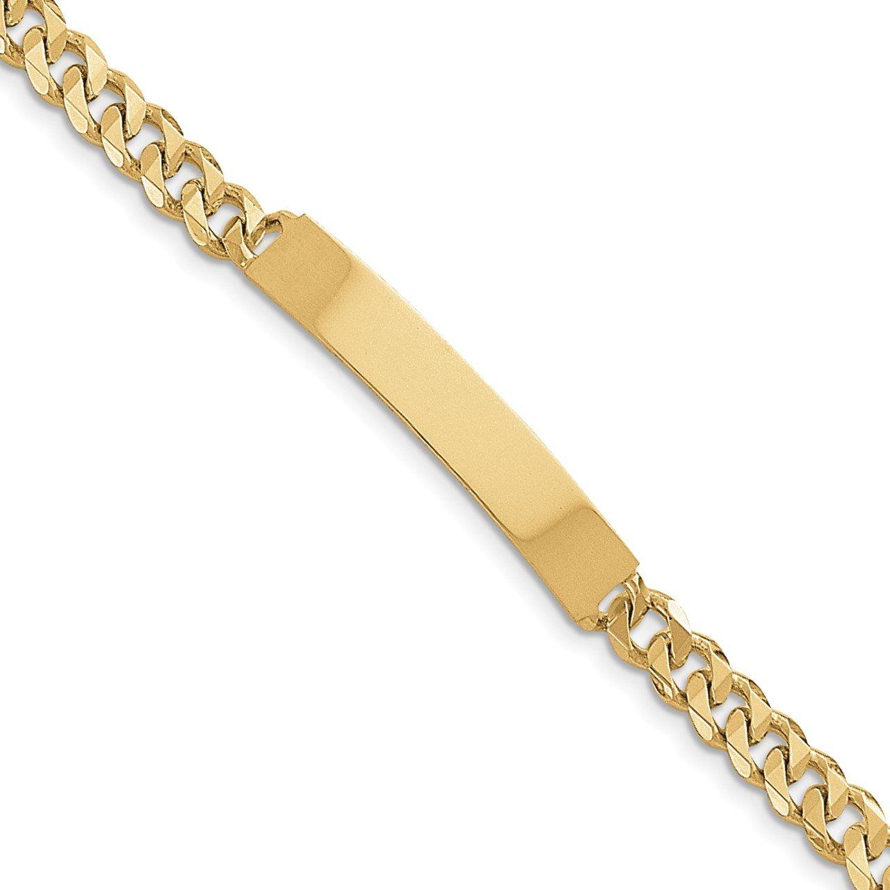 14k Hand-polished Traditional Link ID Bracelet