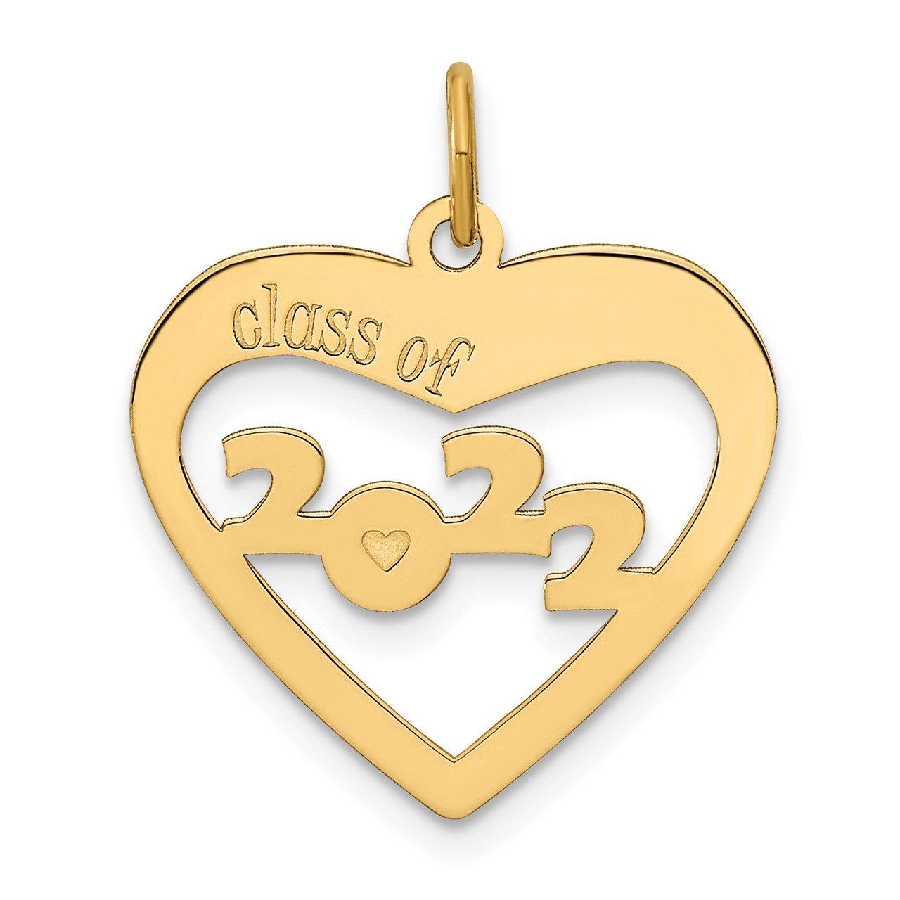 14k CLASS OF 2022 Heart Cut Out
