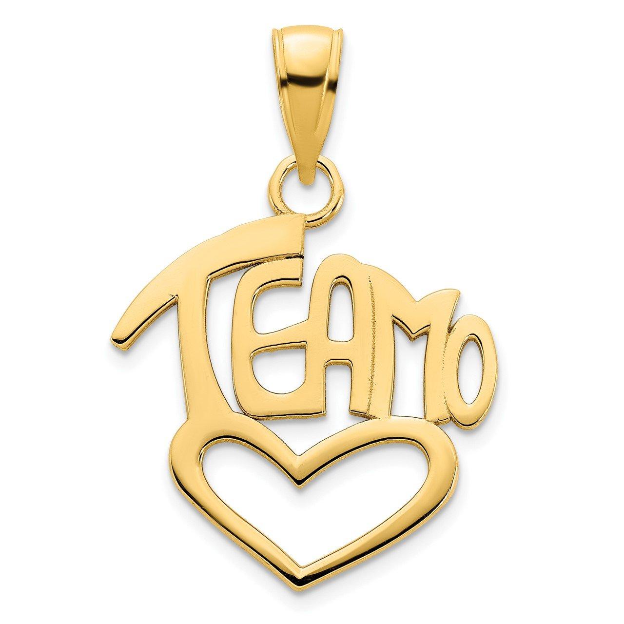 14k Teamo Heart Pendant