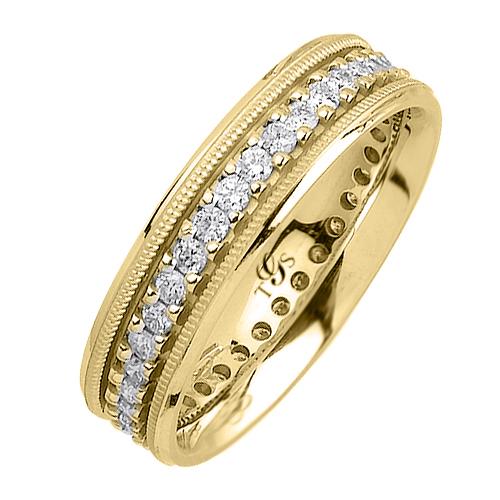 14k White / Yellow / Rose Gold Diamond Band-1
