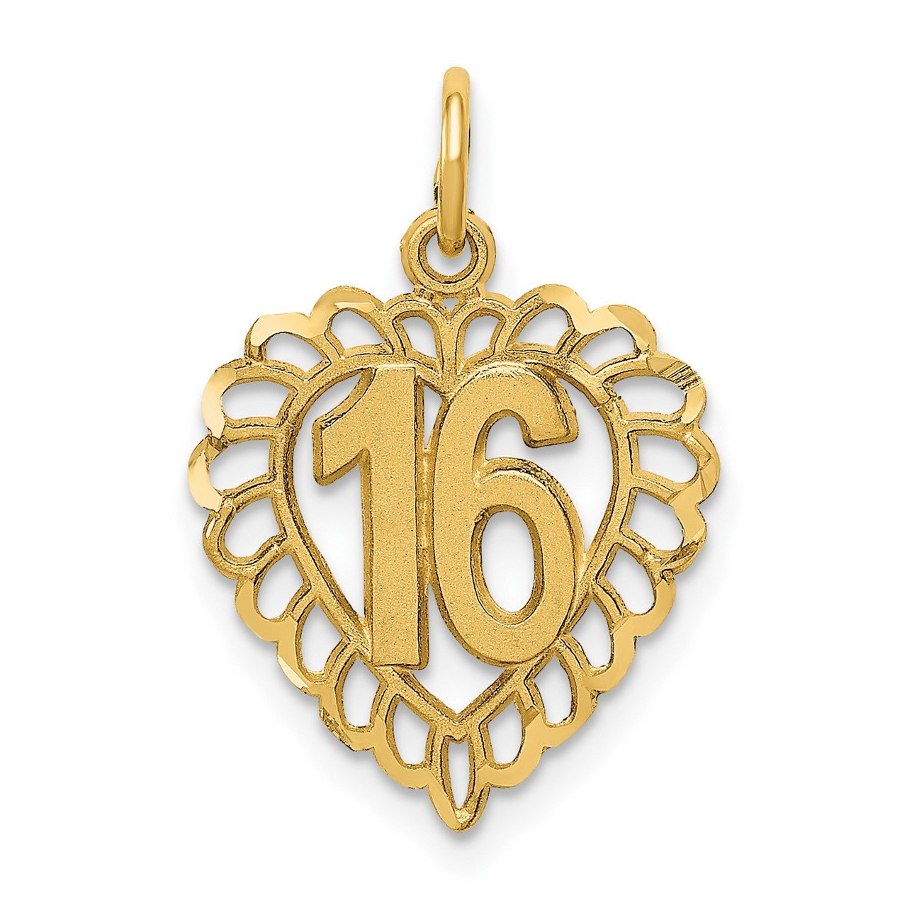 14k 16 in a Heart Charm