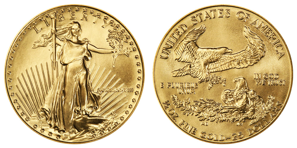 American Eagle $25 Half Ounce Gold