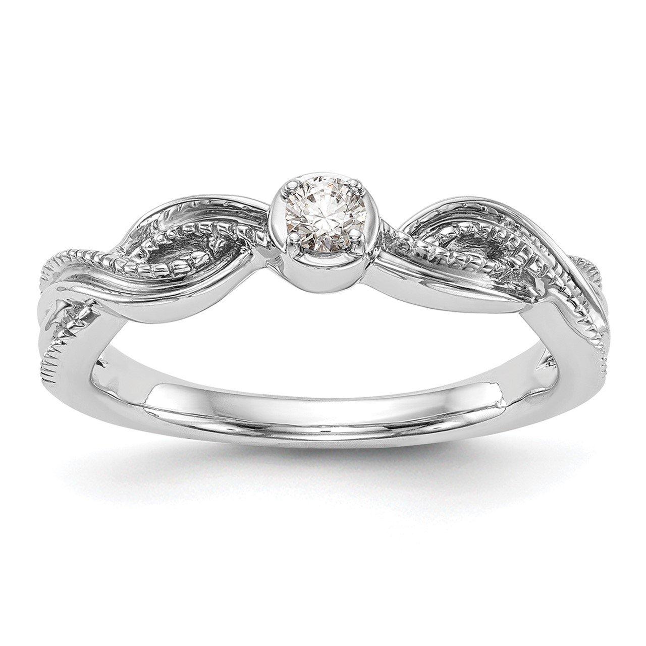 14K White Gold Complete Diamond Promise/Engagement Ring