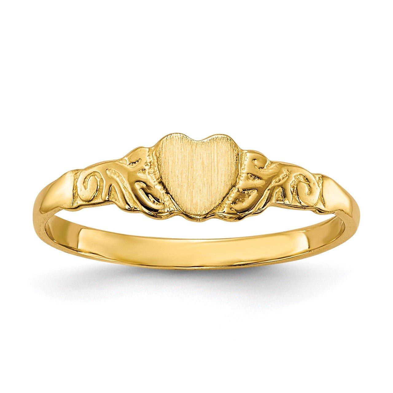 14k Childs Heart Ring
