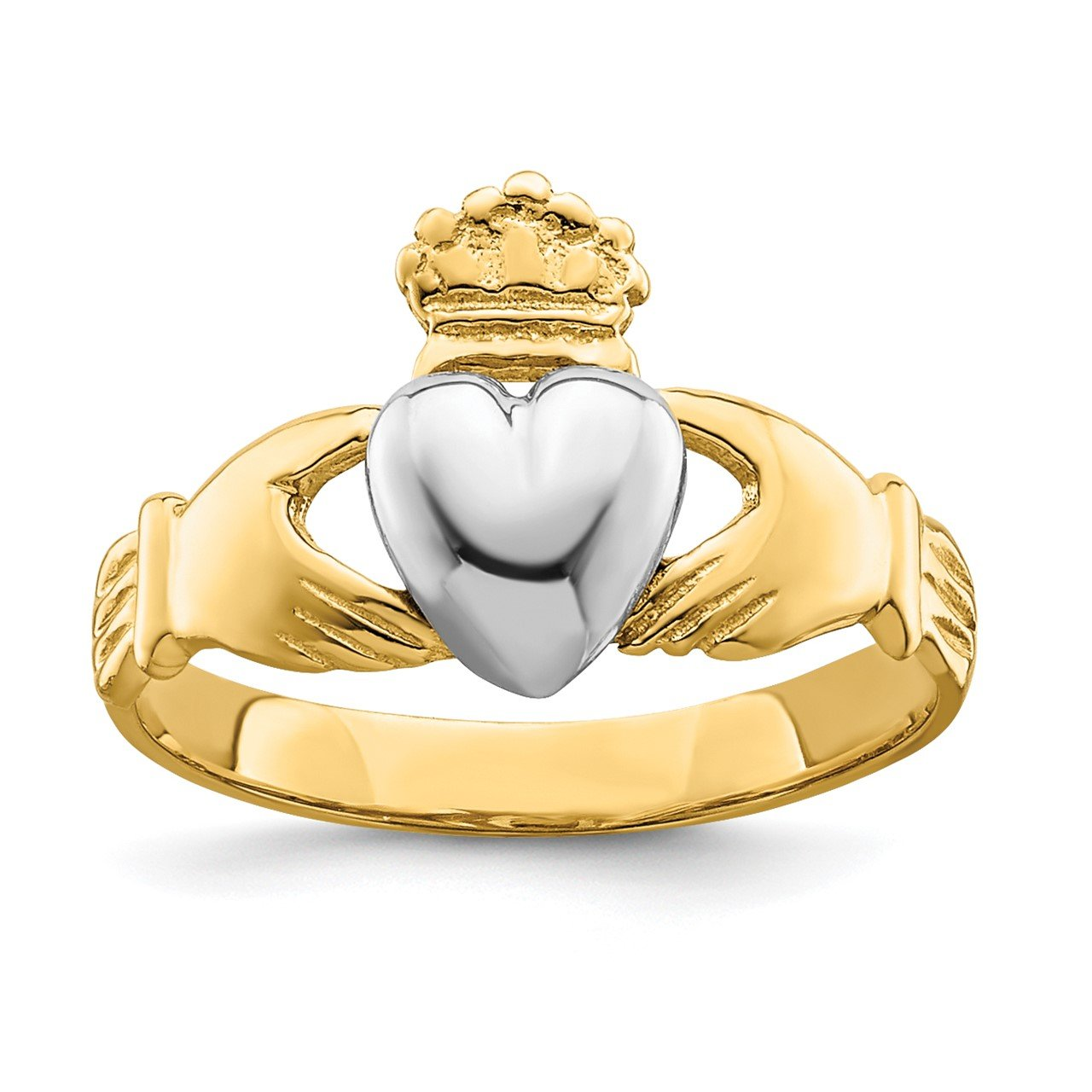 14k TT Yellow and White Gold Baby Claddagh Ring (Development)