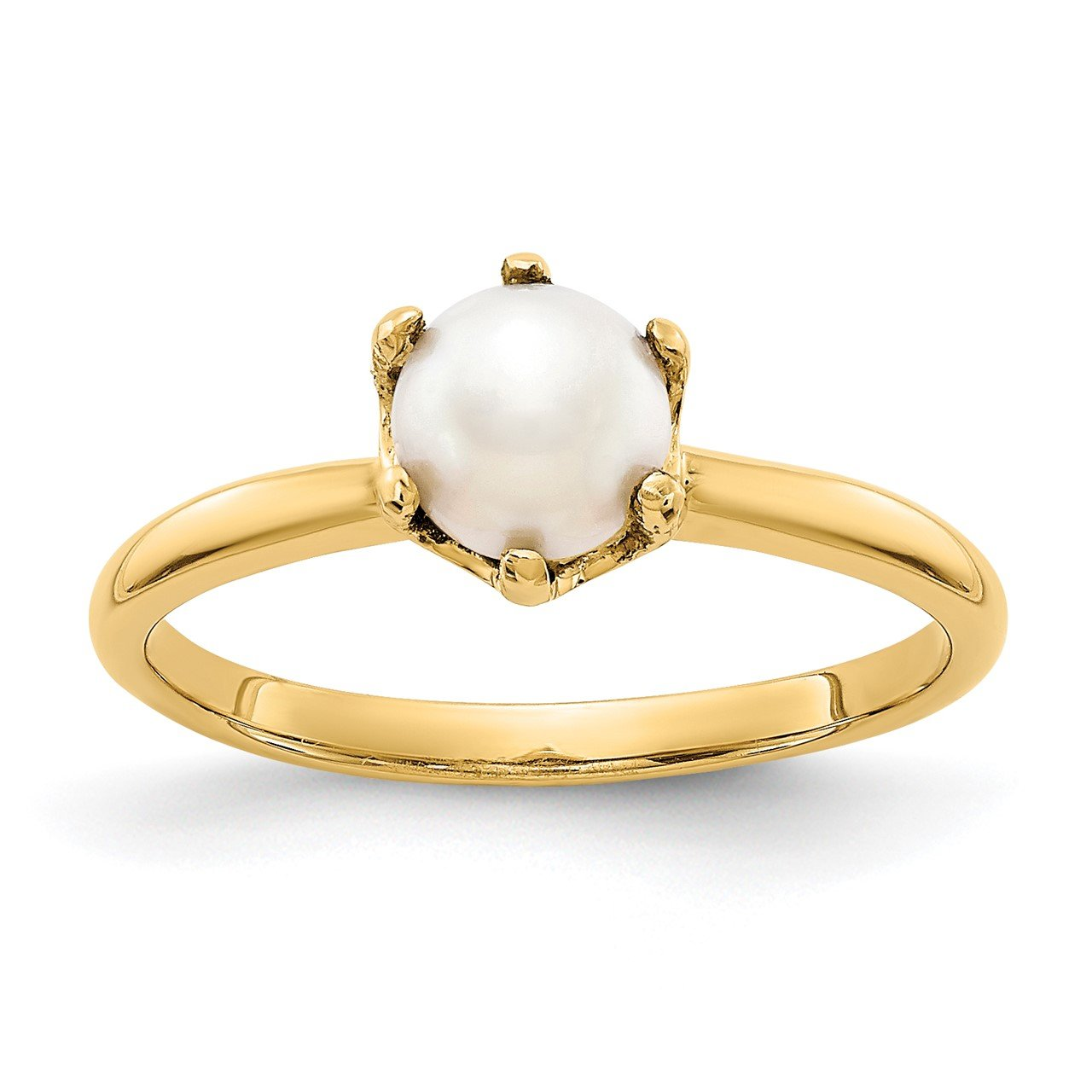 14k 5.5mm FW Cultured Pearl ring