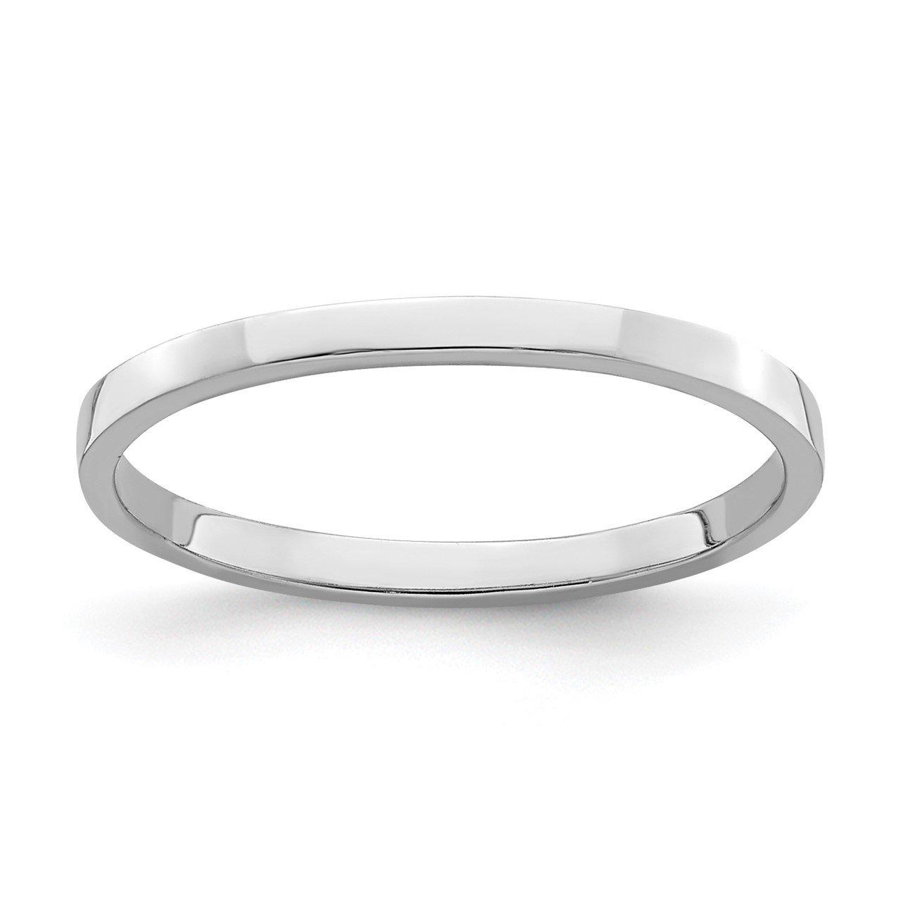 14k White Gold Polished Baby Ring