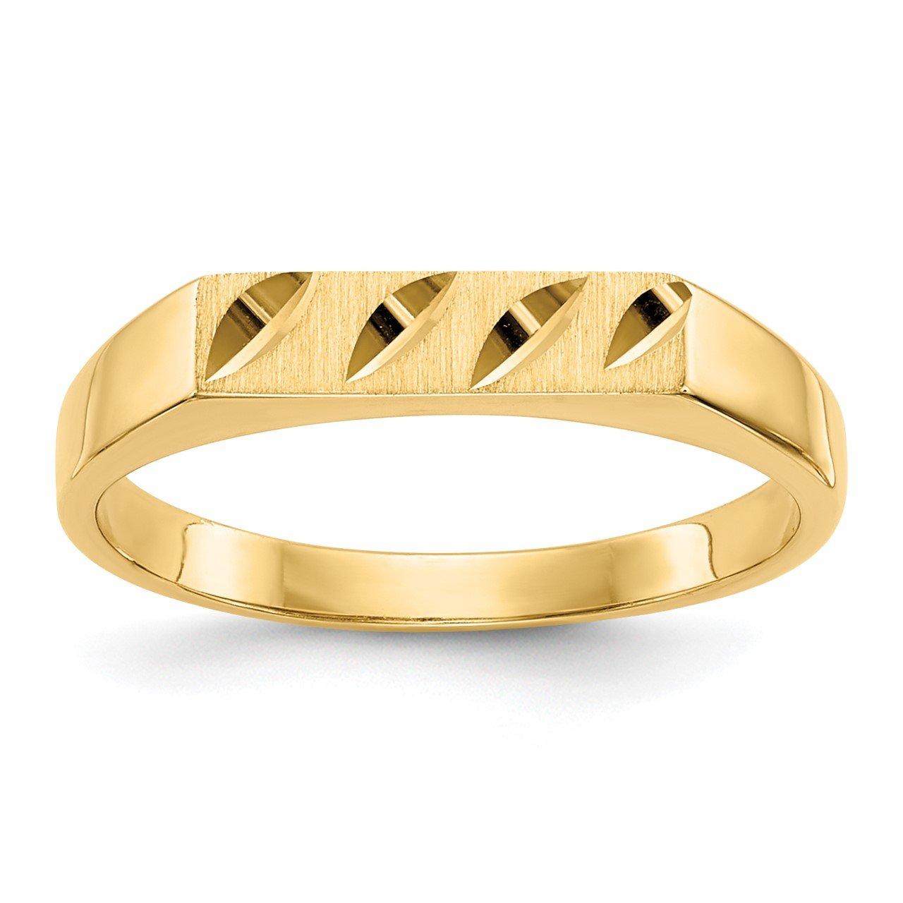 14k Childs Diamond-Cut Ring
