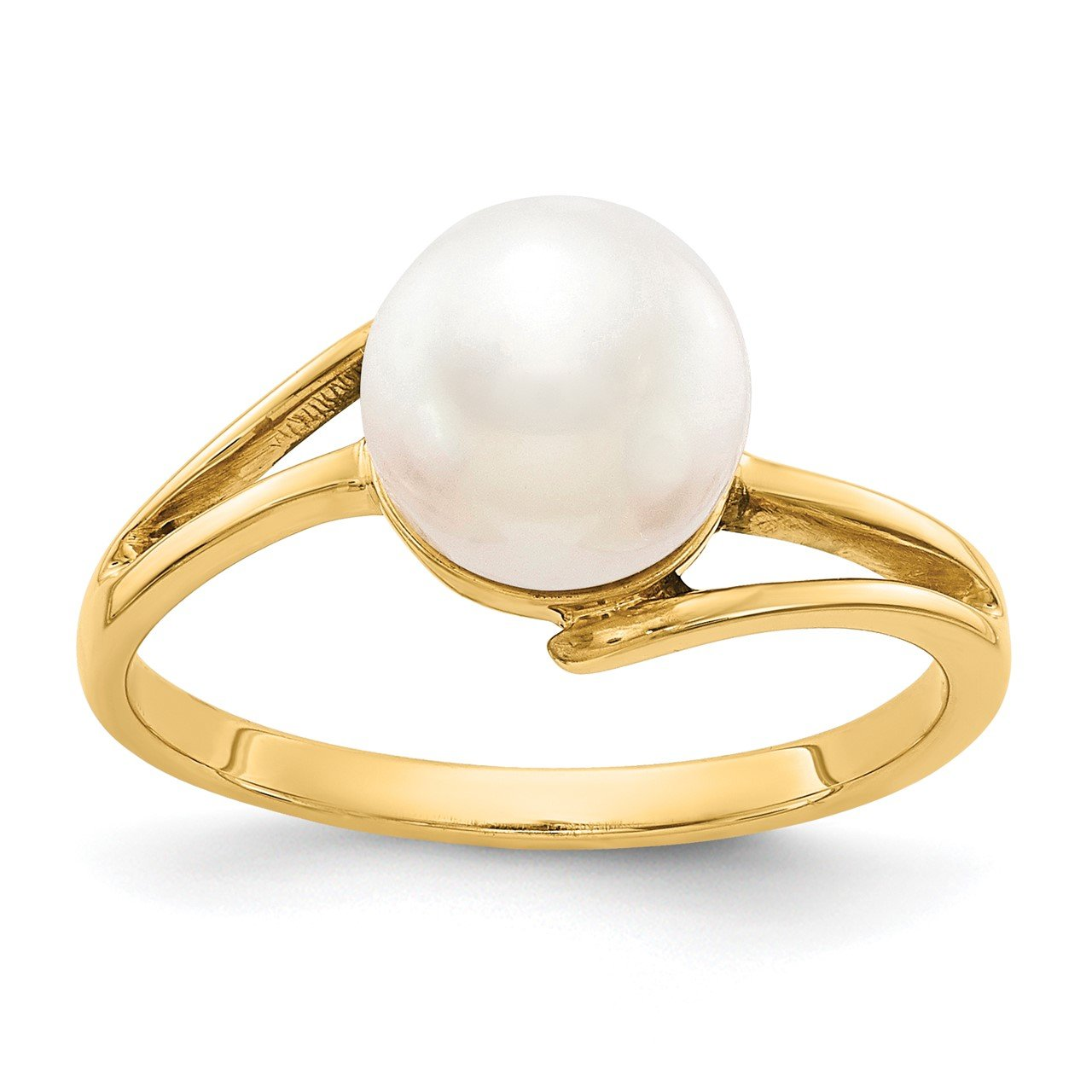 14k 7.5mm FW Cultured Pearl ring