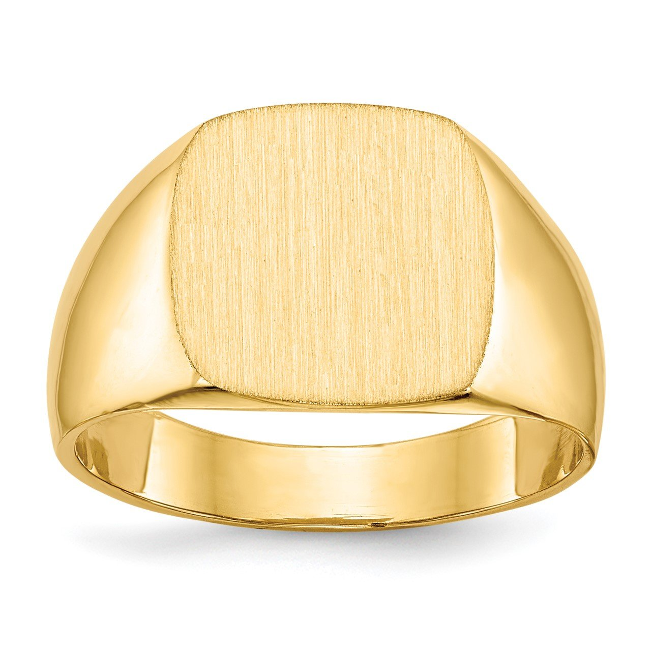 14k 12.0x13.0mm Closed Back Men's Signet Ring