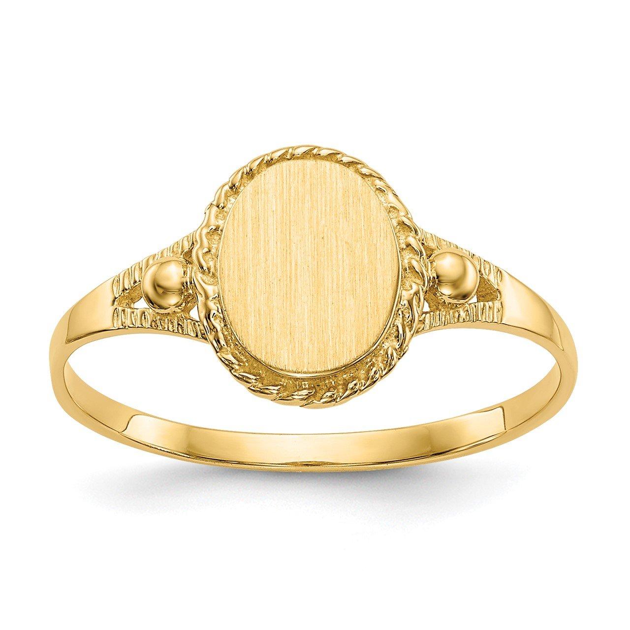14k Childs Fancy Signet Ring