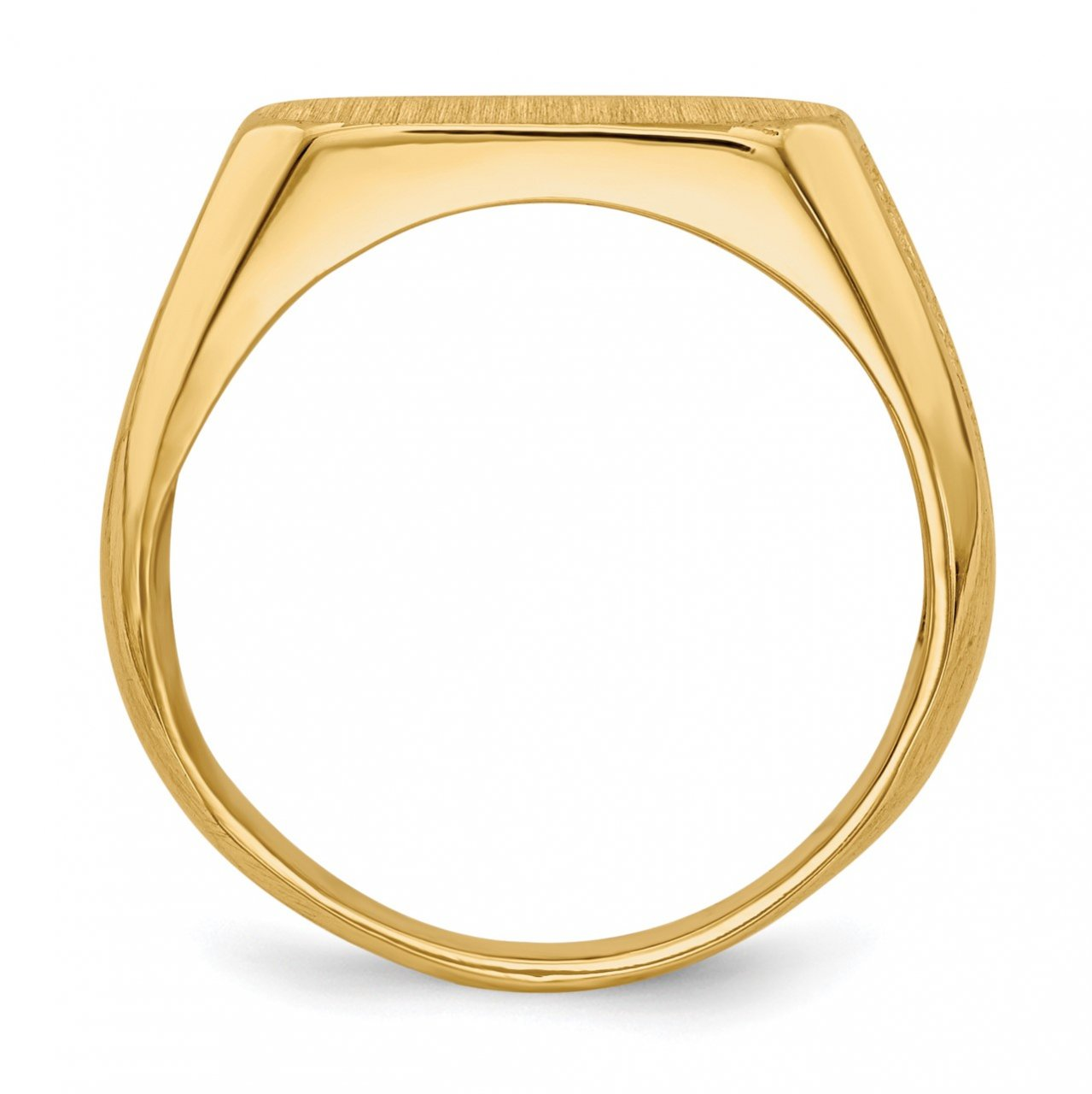 14k 6.0x12.5mm Closed Back Signet Ring-1